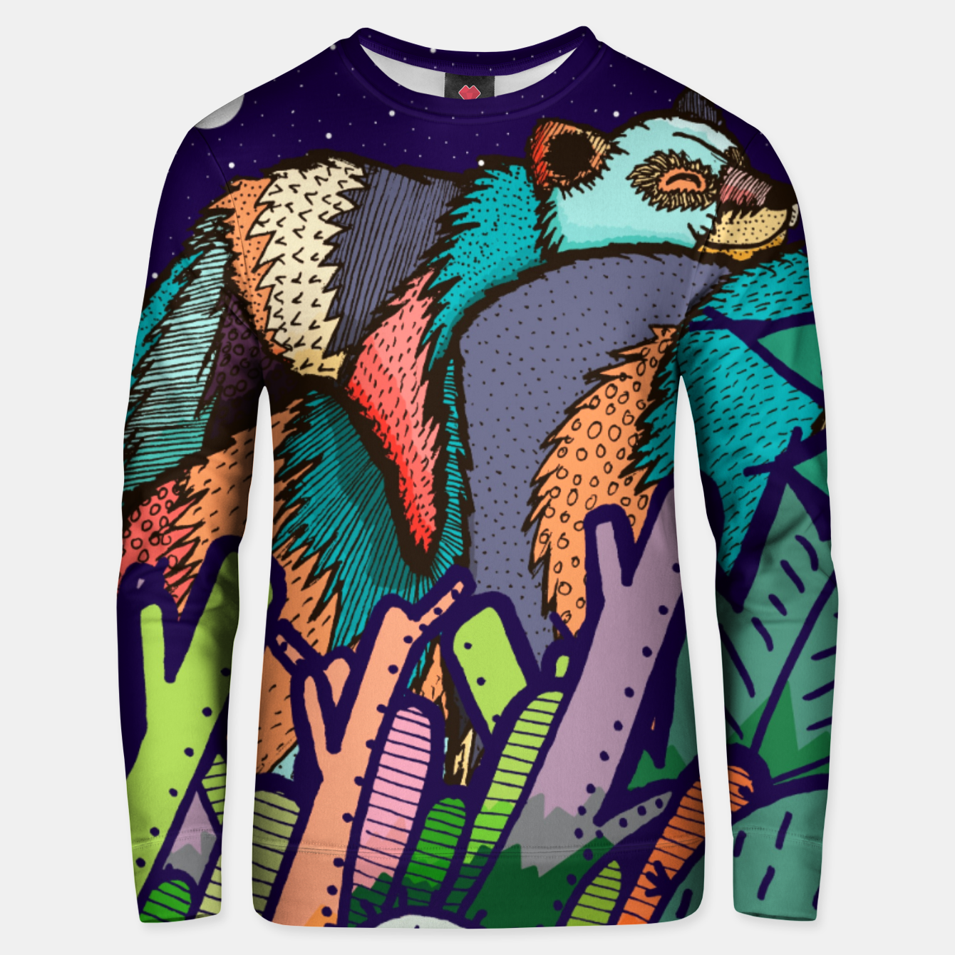 Image of The lazy bear Cotton sweater - Live Heroes