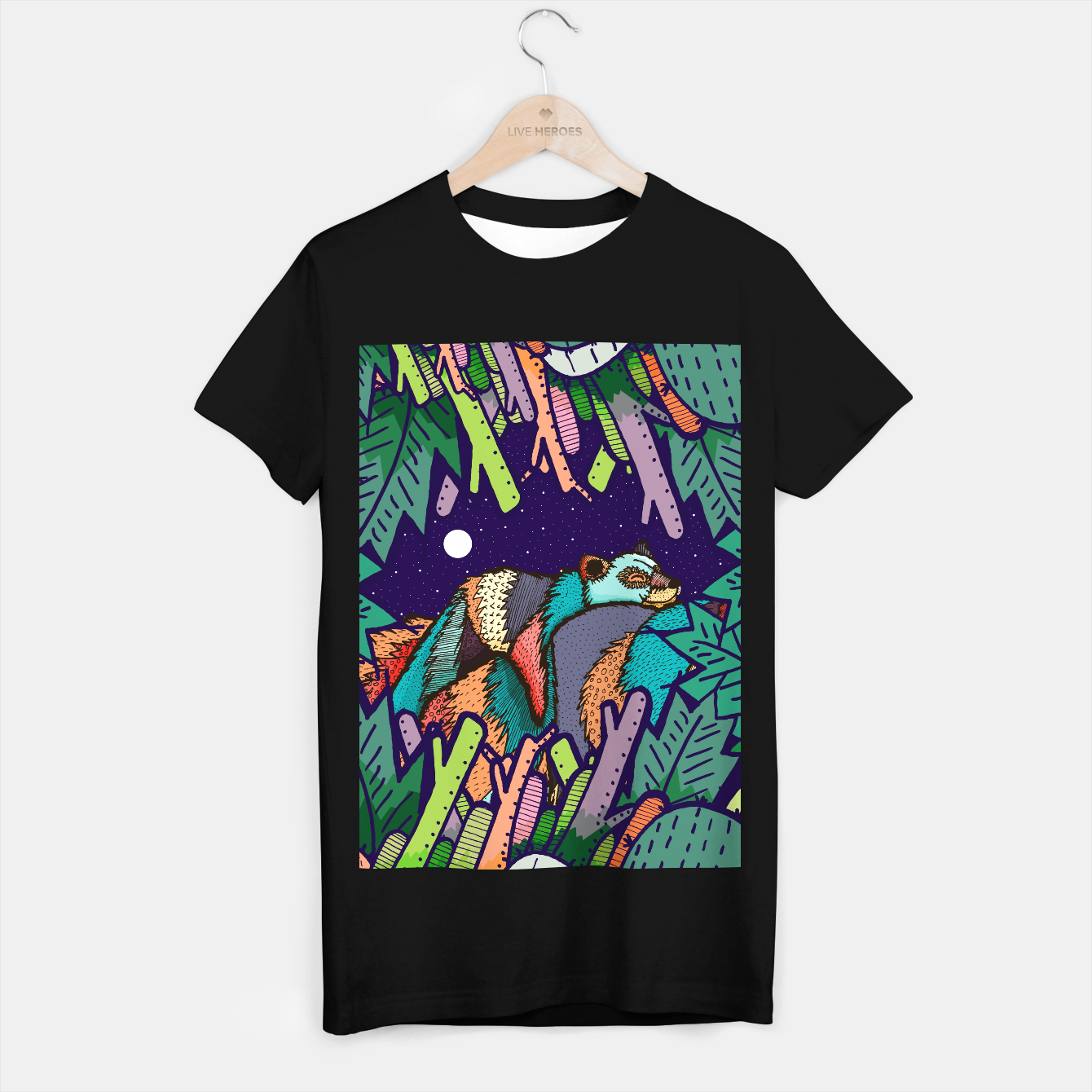 Image of The lazy bear T-shirt regular - Live Heroes