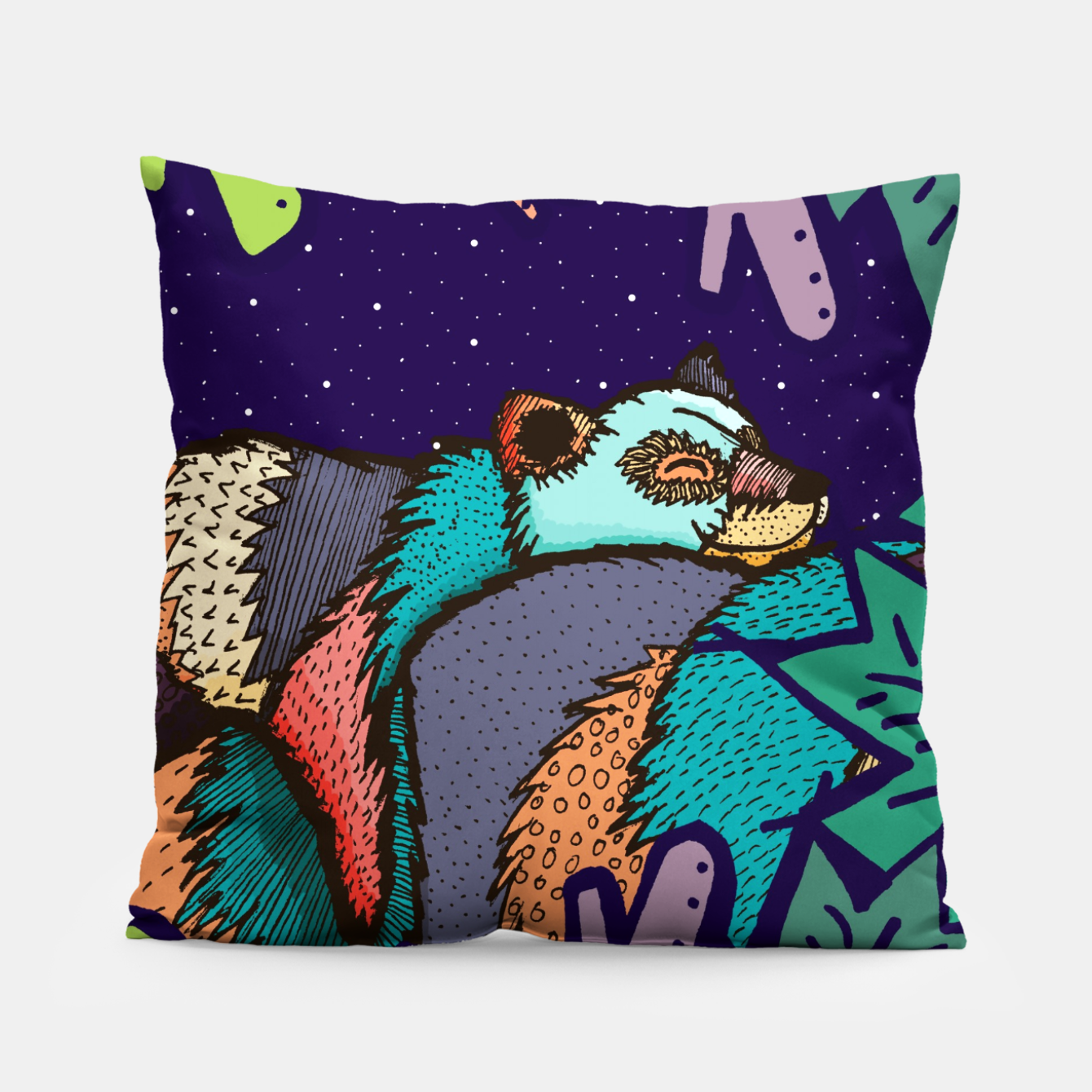 Image of The lazy bear Pillow - Live Heroes