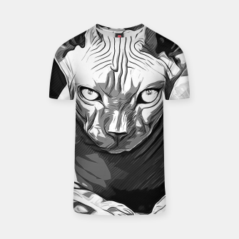 Thumbnail image of gxp sphynx cat from hell katze aus der hoelle vector art white weiß T-Shirt, Live Heroes