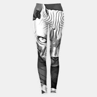 Thumbnail image of gxp sphynx cat from hell katze aus der hoelle vector art white weiß Leggings, Live Heroes