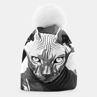 Thumbnail image of gxp sphynx cat from hell katze aus der hoelle vector art white weiß Mütze, Live Heroes