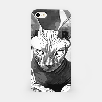 Thumbnail image of gxp sphynx cat from hell katze aus der hoelle vector art white weiß iPhone-Hülle, Live Heroes