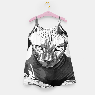 Thumbnail image of gxp sphynx cat from hell katze aus der hoelle vector art white weiß Mädchenkleid, Live Heroes