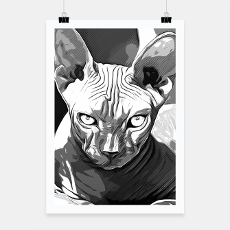Thumbnail image of gxp sphynx cat from hell katze aus der hoelle vector art white weiß Plakat, Live Heroes