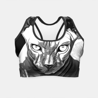 Thumbnail image of gxp sphynx cat from hell katze aus der hoelle vector art white weiß Crop Top, Live Heroes