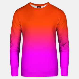 Miniaturka Neon Orange and Hot Pink Ombre Shade Color Fade Cotton sweater, Live Heroes