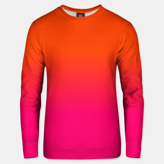 Miniaturka Neon Orange and Neon Pink Ombre Shade Color Fade Cotton sweater, Live Heroes