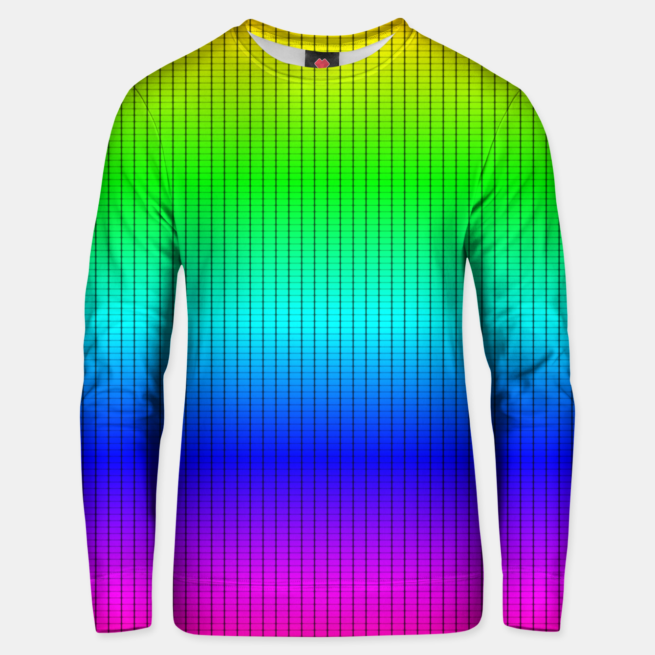 Imagen de Ombre Shaded Rainbow Neon Music Equalizer Grid Cotton sweater - Live Heroes
