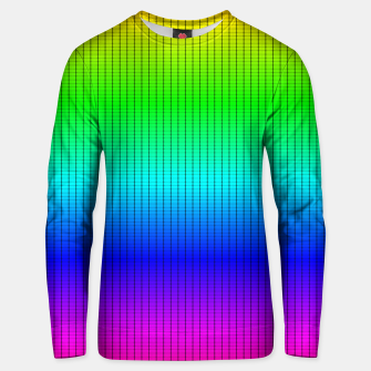 Miniatur Ombre Shaded Rainbow Neon Music Equalizer Grid Cotton sweater, Live Heroes