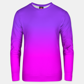 Miniaturka Neon Purple and Hot Pink Ombre Shade Color Fade Cotton sweater, Live Heroes