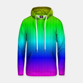 Ombre Shaded Rainbow Neon Music Equalizer Grid Cotton hoodie imagen en miniatura