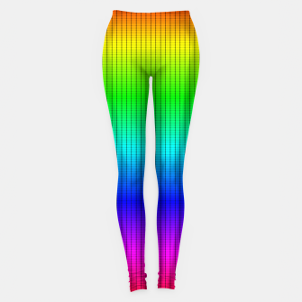 Miniatur Ombre Shaded Rainbow Neon Music Equalizer Grid Leggings, Live Heroes