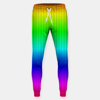 Ombre Shaded Rainbow Neon Music Equalizer Grid Cotton sweatpants imagen en miniatura