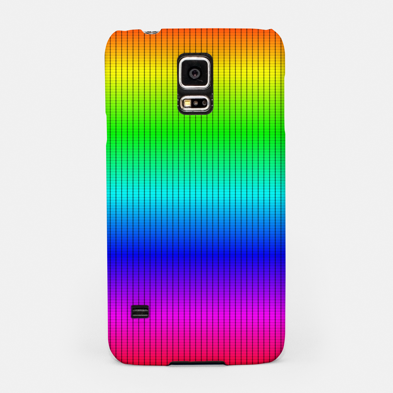 Imagen de Ombre Shaded Rainbow Neon Music Equalizer Grid Samsung Case - Live Heroes