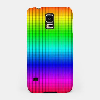 Miniatur Ombre Shaded Rainbow Neon Music Equalizer Grid Samsung Case, Live Heroes