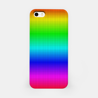 Miniatur Ombre Shaded Rainbow Neon Music Equalizer Grid iPhone Case, Live Heroes