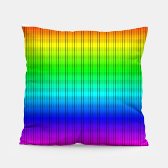 Miniatur Ombre Shaded Rainbow Neon Music Equalizer Grid Pillow, Live Heroes