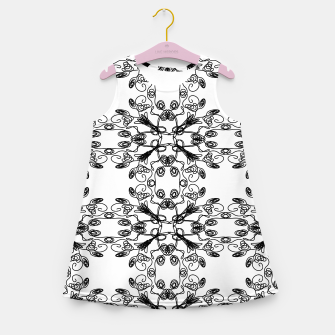 Miniatur Magical SUMMER Girls dress // BLACK--WHITE, Live Heroes