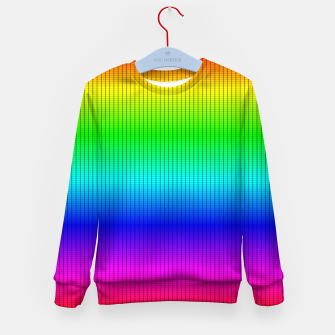Miniatur Ombre Shaded Rainbow Neon Music Equalizer Grid Kid's sweater, Live Heroes