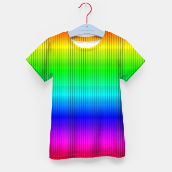Ombre Shaded Rainbow Neon Music Equalizer Grid Kid's t-shirt imagen en miniatura