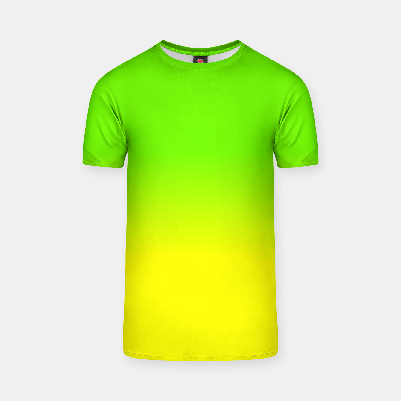 neon green and neon yellow ombré shade color fade t shirt live heroes