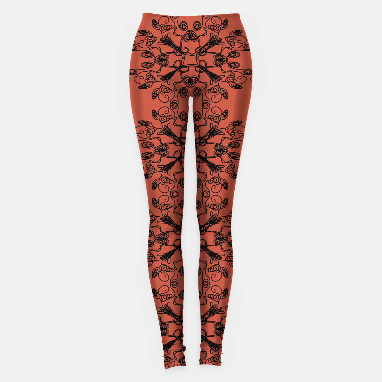Image of WINT. leggings black-on-red wild ETHNIC Ornam. - Live Heroes