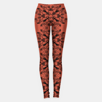 Thumbnail image of WINT. leggings black-on-red wild ETHNIC Ornam., Live Heroes
