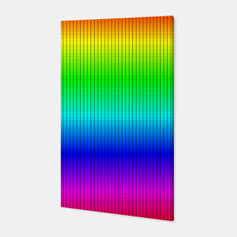 Miniatur Ombre Shaded Rainbow Neon Music Equalizer Grid Canvas, Live Heroes