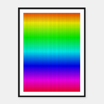 Miniatur Ombre Shaded Rainbow Neon Music Equalizer Grid Framed poster, Live Heroes