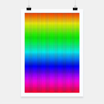 Ombre Shaded Rainbow Neon Music Equalizer Grid Poster imagen en miniatura