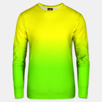Neon Lemon and Lime Ombré  Shade Color Fade  Cotton sweater imagen en miniatura