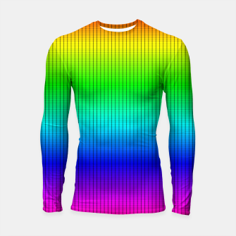 Ombre Shaded Rainbow Neon Music Equalizer Grid Longsleeve rashguard  imagen en miniatura