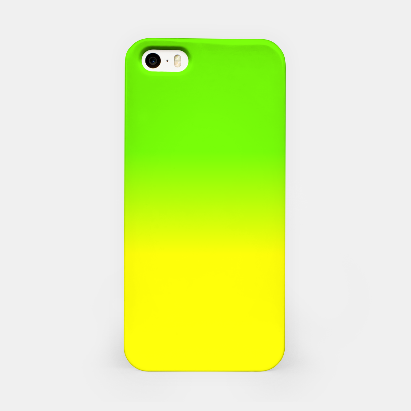 Imagen de Neon Green and Neon Yellow Ombré  Shade Color Fade  iPhone Case - Live Heroes