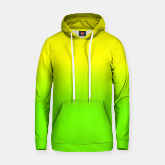 Neon Lemon and Lime Ombré  Shade Color Fade  Cotton hoodie imagen en miniatura