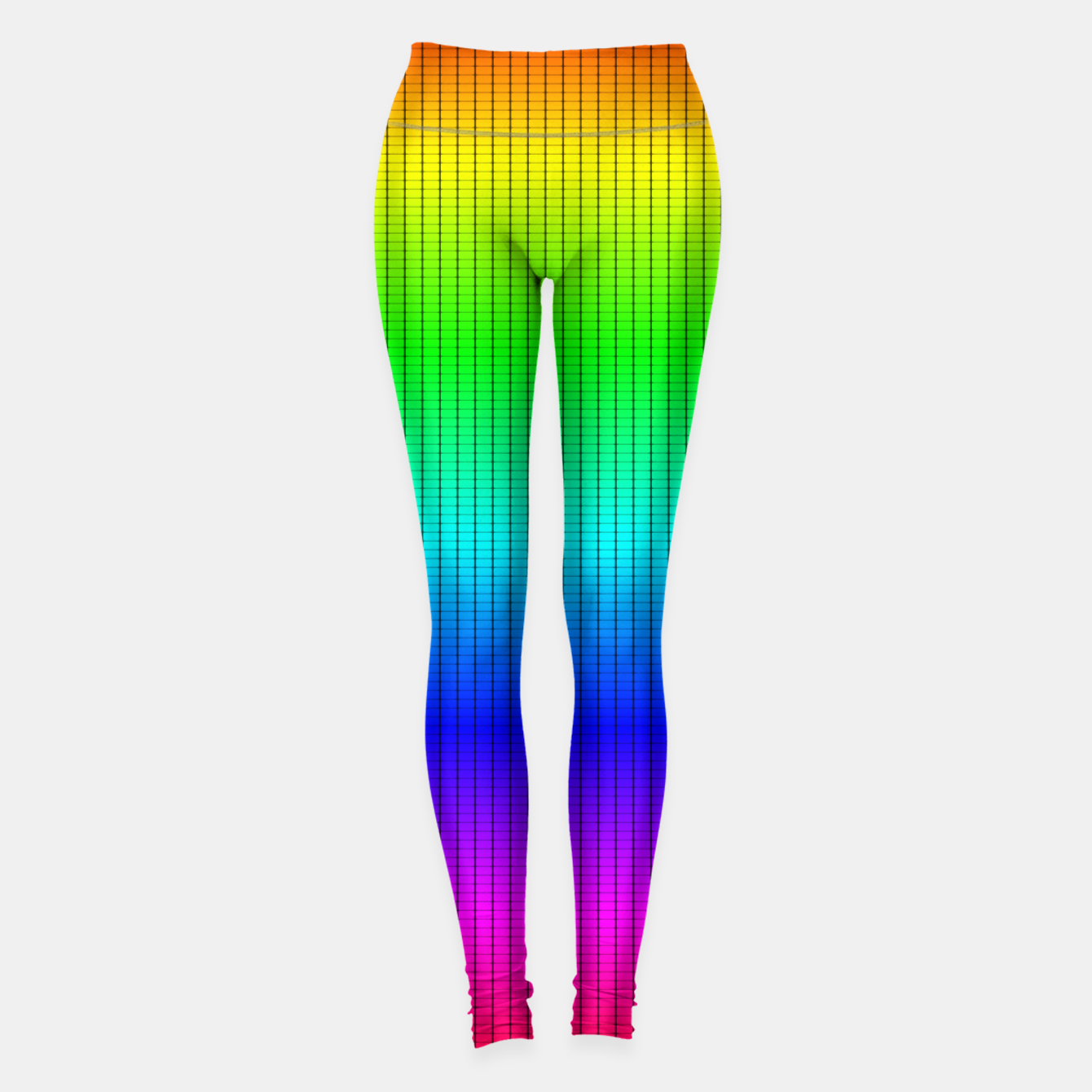 Imagen de Ombre Shaded Rainbow Neon Music Equalizer Grid Leggings - Live Heroes
