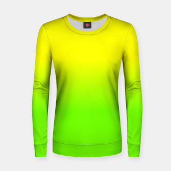 Neon Lemon and Lime Ombré  Shade Color Fade  Woman cotton sweater imagen en miniatura