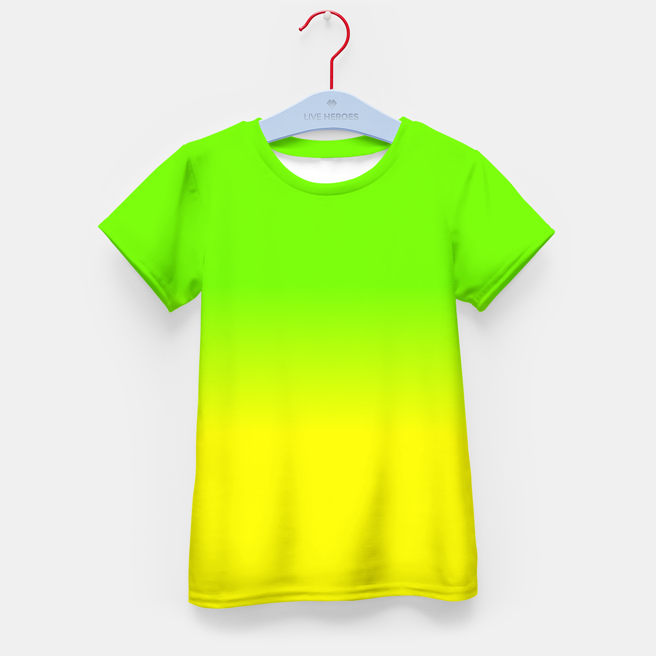 Neon Green and Neon Yellow Ombré Shade Color Fade Kid\'s t-shirt ...