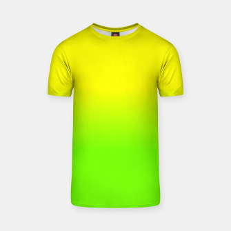 Neon Lemon and Lime Ombré  Shade Color Fade  T-shirt imagen en miniatura