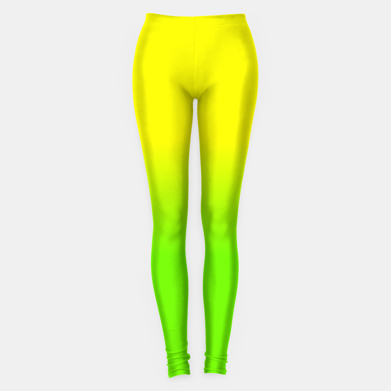 Imagen de Neon Lemon and Lime Ombré  Shade Color Fade  Leggings - Live Heroes