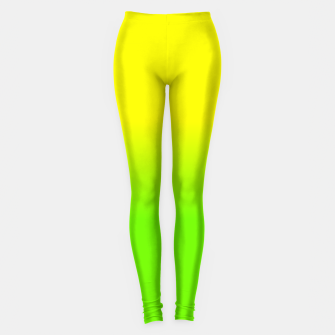 Neon Lemon and Lime Ombré  Shade Color Fade  Leggings imagen en miniatura