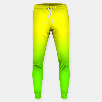 Neon Lemon and Lime Ombré  Shade Color Fade  Cotton sweatpants imagen en miniatura