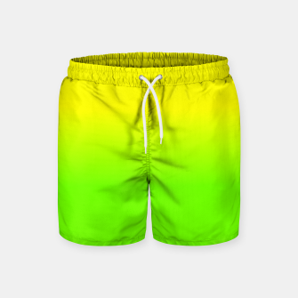 Neon Lemon and Lime Ombré  Shade Color Fade  Swim Shorts imagen en miniatura