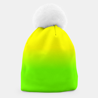 Neon Lemon and Lime Ombré  Shade Color Fade  Beanie imagen en miniatura