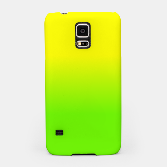 Neon Lemon and Lime Ombré  Shade Color Fade  Samsung Case imagen en miniatura