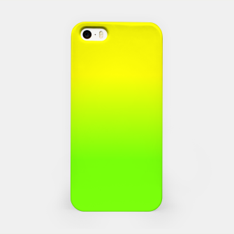 Neon Lemon and Lime Ombré  Shade Color Fade  iPhone Case imagen en miniatura
