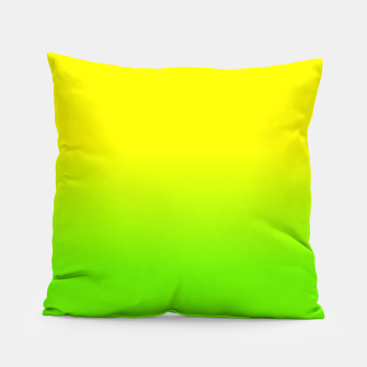 Neon Lemon and Lime Ombré  Shade Color Fade  Pillow imagen en miniatura