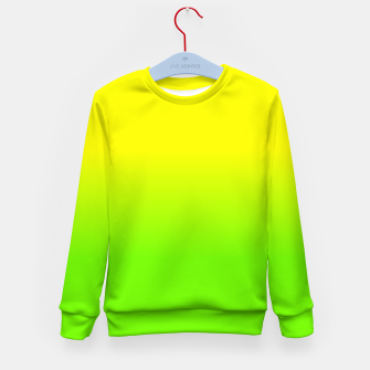 Neon Lemon and Lime Ombré  Shade Color Fade  Kid's sweater imagen en miniatura