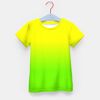Neon Lemon and Lime Ombré  Shade Color Fade  Kid's t-shirt imagen en miniatura