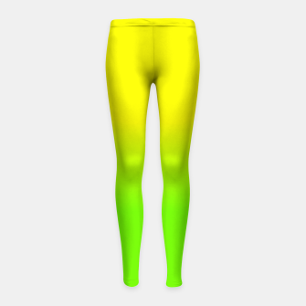 Neon Lemon and Lime Ombré  Shade Color Fade  Girl's leggings imagen en miniatura